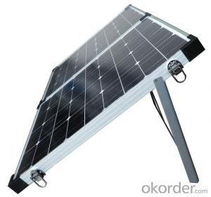 40W Folding Solar Panel with Flexible Supporting Legs for Camping