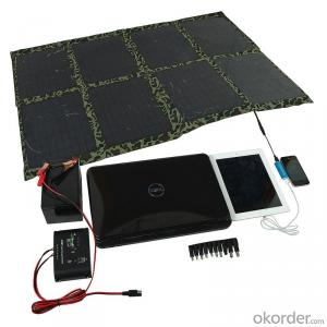 100W Folding Solar Panel with Flexible Supporting Legs for Camping
