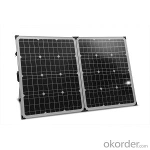 190W Folding Solar Panel with Flexible Supporting Legs for Camping