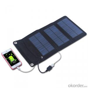 20W Folding Solar Panel with Flexible Supporting Legs for Camping