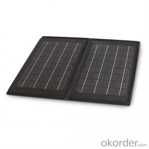 10W Folding Solar Panel with Flexible Supporting Legs for Camping