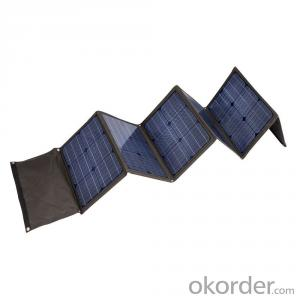 170W Folding Solar Panel with Flexible Supporting Legs for Camping