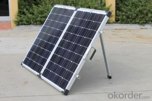 130W Folding Solar Panel with Flexible Supporting Legs for Camping