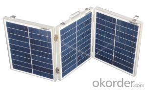 60W Folding Solar Panel with Flexible Supporting Legs for Camping