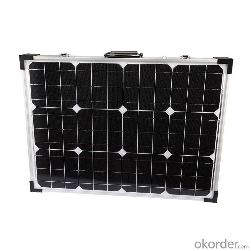 30W Folding Solar Panel with Flexible Supporting Legs for Camping
