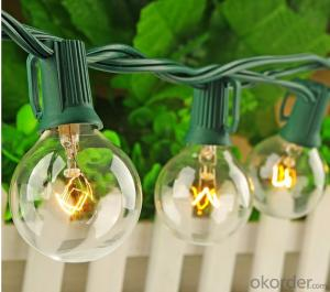 G40 Patio Lights Outdoor Globe Garden String Lights High Quality
