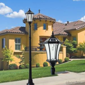 Solar Post Lamp Soalr Post Lantern for Garden with Exquisite Design for Decoration