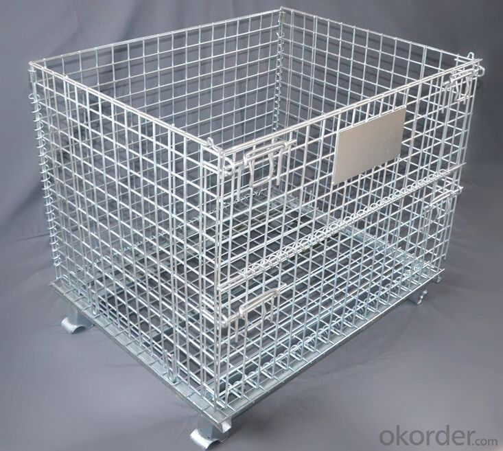 Buy Warehouse Metal Folding Storage Wire Mesh Cage Container Price ...