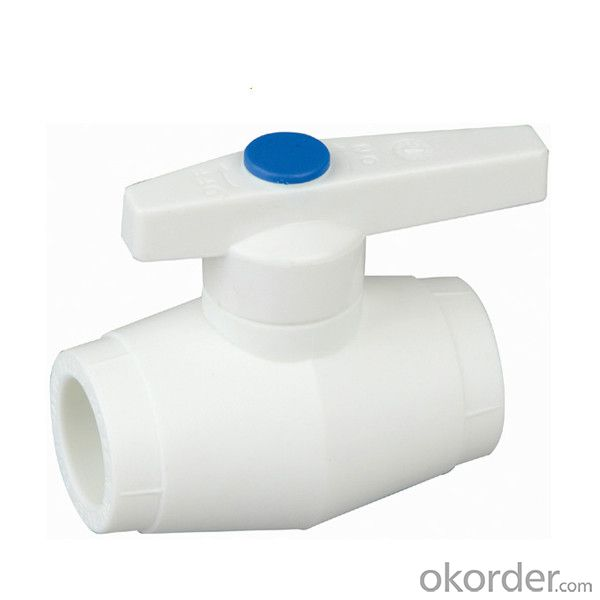 type PPR single female threaded concealed ball valve with brass ball