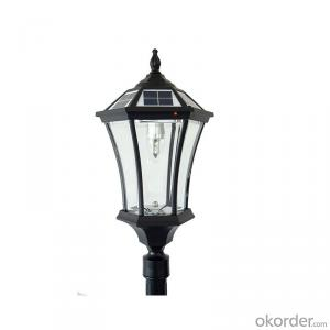 Super Bright Black and Golden Solar Lamp Post Garden Light Solar Panel