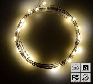 Warm White Battery Operated LED Copper Wire String Lights for  Holidays Party Wedding Decoration