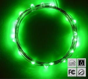 Green Fairy Light Flexible Led Mini Copper Wire String Lights Led Christmas Lights