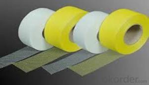 Fiberglass Mesh Gummed Adhesive Tape Double Side Waterproof