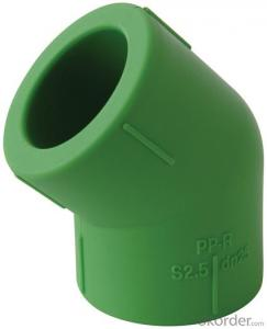 Polypropylene-Random Plastic 45 degree Elbow