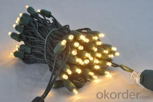 100 Led Warm White Brown Wire Wide Angle 5mm Led String Lights
