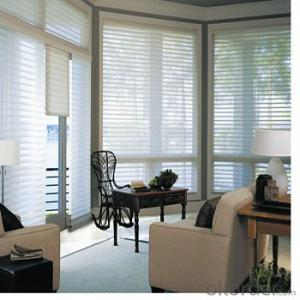 polyester bedroom shade blind , bead control shangri-la blind