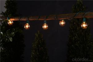 G50 Patio Globe String Lights for Decoration String Lighting (Black Wire)