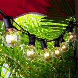 Patio Lights G40 Globe Party String Light Christmas Landscape Lights Vintage Style Ball Bulbs 25ft