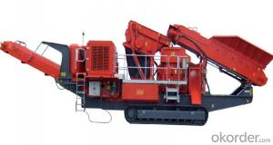 Moving crushing station, mobile crushing plant with Crawler