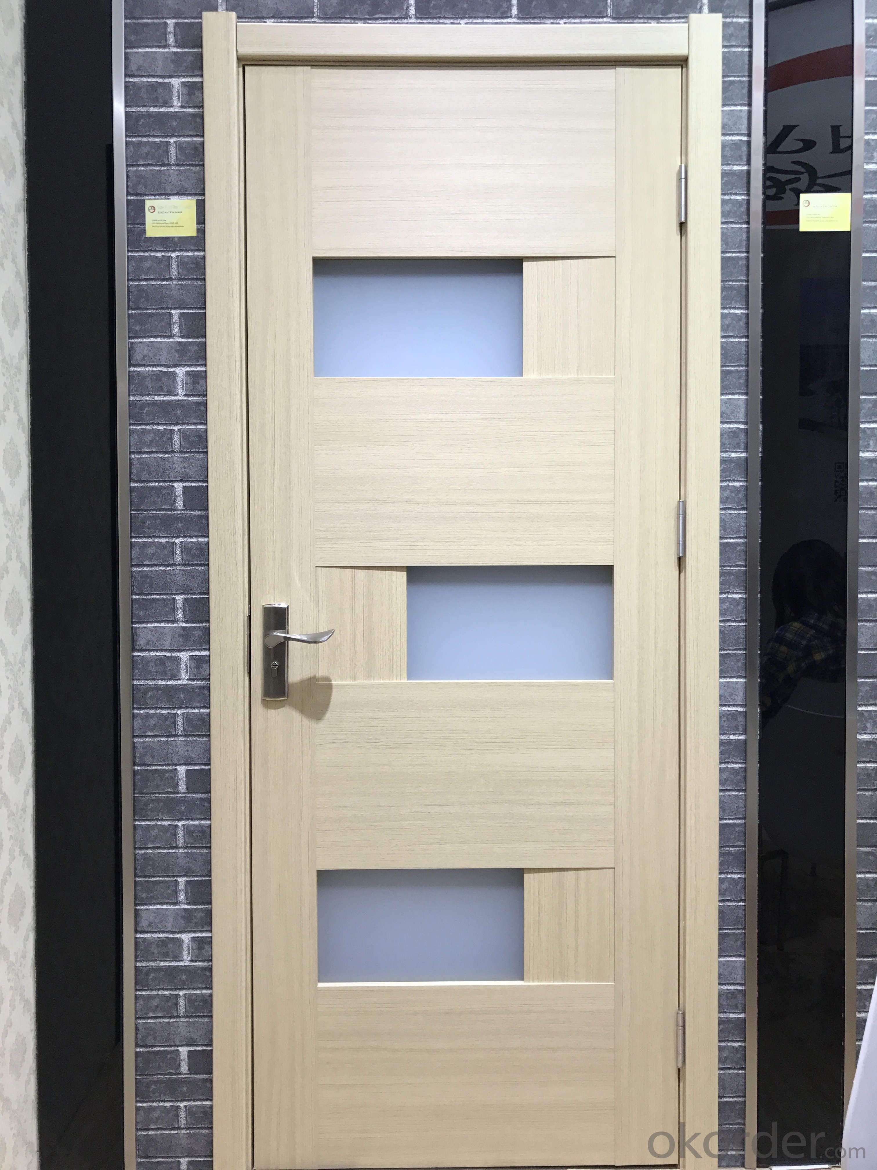Buy Wooden door for pvc door with honeycomb and lvl covered pvc ...