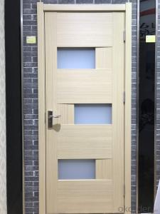 Wooden door for pvc door with honeycomb and lvl covered pvc sheet with frame