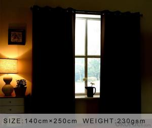 polyester100% blackout  window curtains can be customized