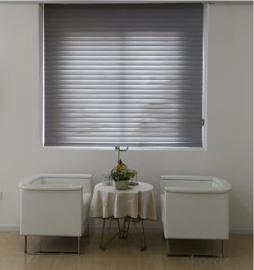 shangri-la sheer window shades  pleated rolling blind