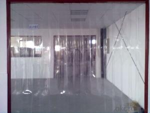 antistatic transparent pvc strip curtain &clear flexible pvc soft sheet
