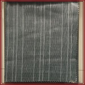 Dubai vertical strip tulle sheer window curtain fabric for theatre curtain