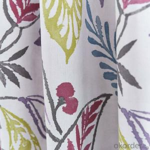 indoors Flower Printed Lined Eyelet Curtains
