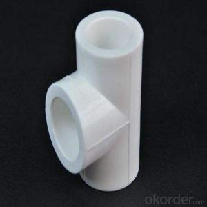 PPR Threaded Fittings reduced tee with high quality(grey&white)