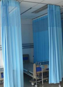blue antibacterial cubicle curtain for hospital