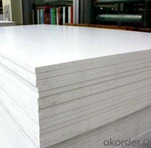 white pvc foam board in heat insulation and high density