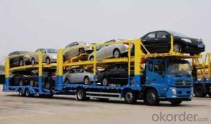 Centre Axle Car Carrier , Car Transportation Truck