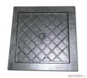 OEM Precise Casting Ductile Cast Iron Double Seal Manhole Cover