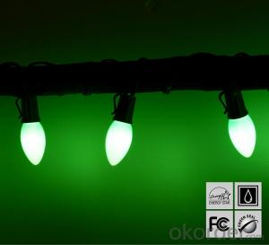 2017 New Pale Green C7 LED Bulb Light String for Outdoor Indoor Wedding House Garden Decoration