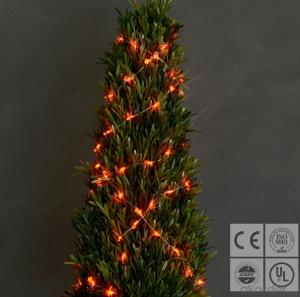 Red Candy Cane Copper Wire String for Outdoor Indoor Wedding Christmas Garden Decoration