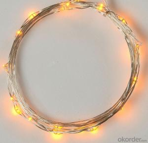 Red Yellow Blue Copper Wire String for Outdoor Indoor Party Home Fence Decoration