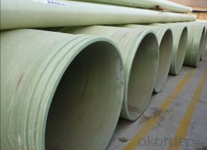 High Pressure GRE Pipe Corrosion resistance High mechanical property on sales