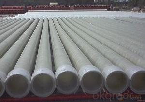 Low friction coefficient FRP pipe without consequent pollution