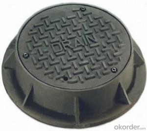 Casting Ductile Iron Manhole Cover for Construction