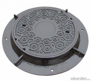 Ductile Iron Manhole Cover with Hinge and Lock