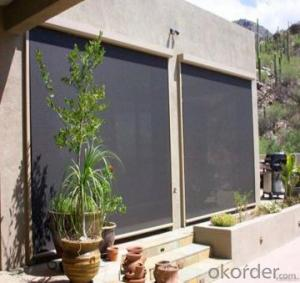 roller blind with plastic double customized for window