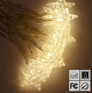 White Star LED Light String for Outdoor Indoor Christmas Stage Party Decoration