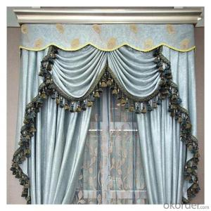 customized size roman curtain with matching window curtain