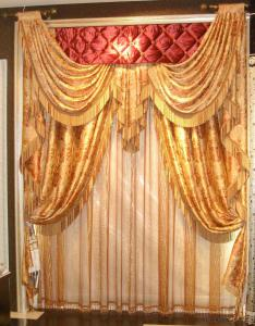 wholesale roman blackout curtain with matching window curtain