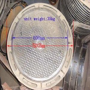 Ductile Iron Manhole Cover with Standard Size