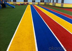 colorful artificial grass can be used in many occasion