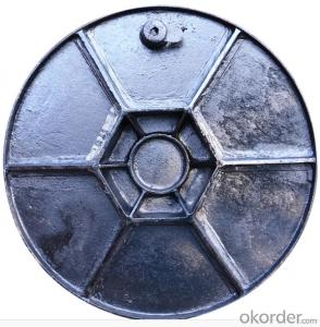 Dctileu Iron Manhole Cover of Gery with Square or Round