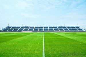 Slit-film soccer artificial grass for outdoor field application